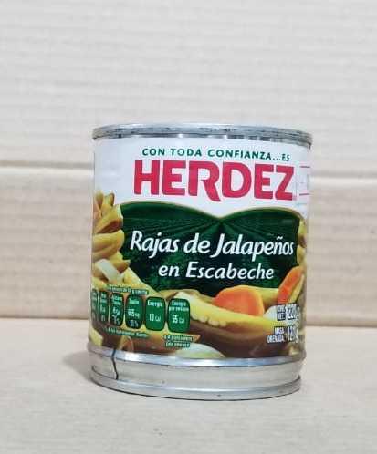 Rajas de jalapeños HERDEZ lata 220 gramos