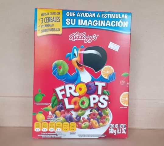 Kelloggs Froot Loops en caja 180 g (6.3 onzas)