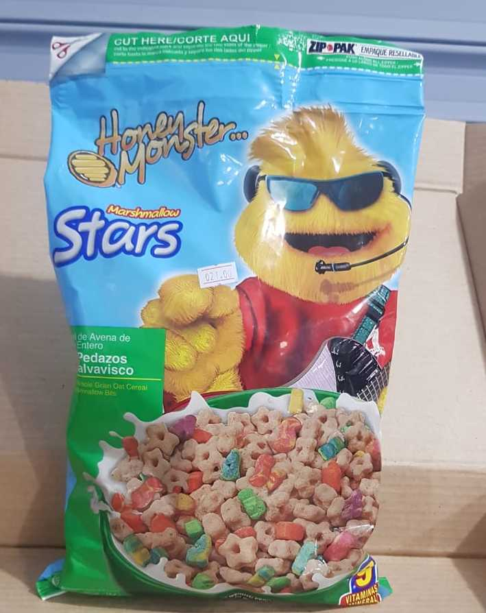Cereal Honen Moster con Malvavisco Bolsa 377g