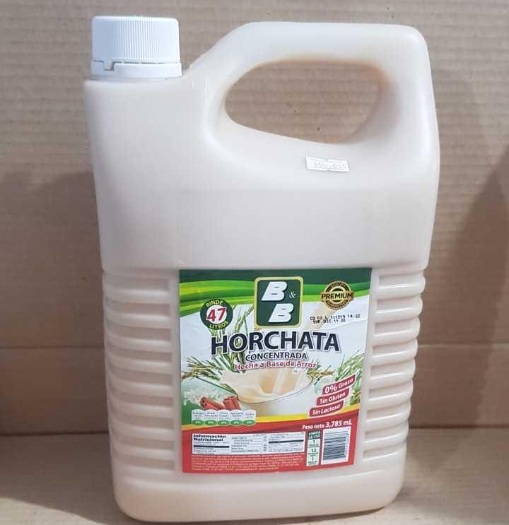 HORCHATA B&B CONCENTRADA HECHA A BASE DE ARROZ 3785 ML
