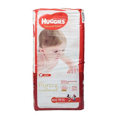 Pañales Huggies Active Sec G/3 (20-27.5 Libras 38 pañales)
