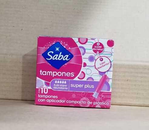 Tampones Saba Super Plus Caja 10 Unidades