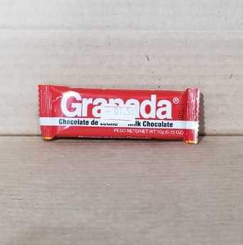 Chocolate Granada de leche 10g (0.35 onzas) rojo