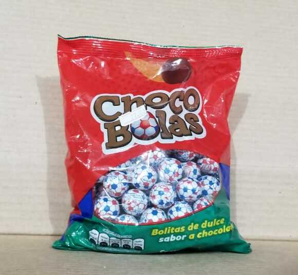 Chocobolas bolsa de 100 unidades / Bolitas de dulce sabor a chocolate 550 g