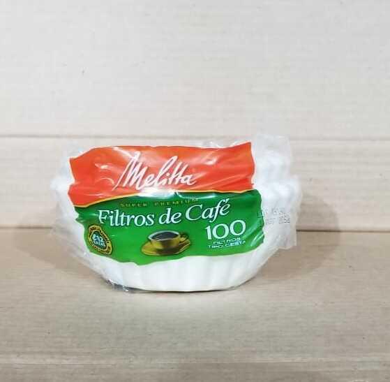 Filtros para cafe Melitta 100 unidades
