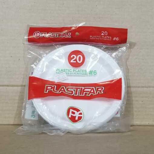 Plato Plastico Plastifar # 6 Bolsa 20 unidades