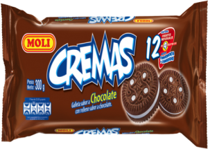 Galleta Crema Moli Chocolate Pack 12 unidades
