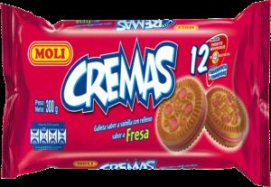 Galleta Crema Moli Fresa Pack 12 unidades