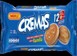 Galleta Crema Moli Vainilla Pack 12 unidades